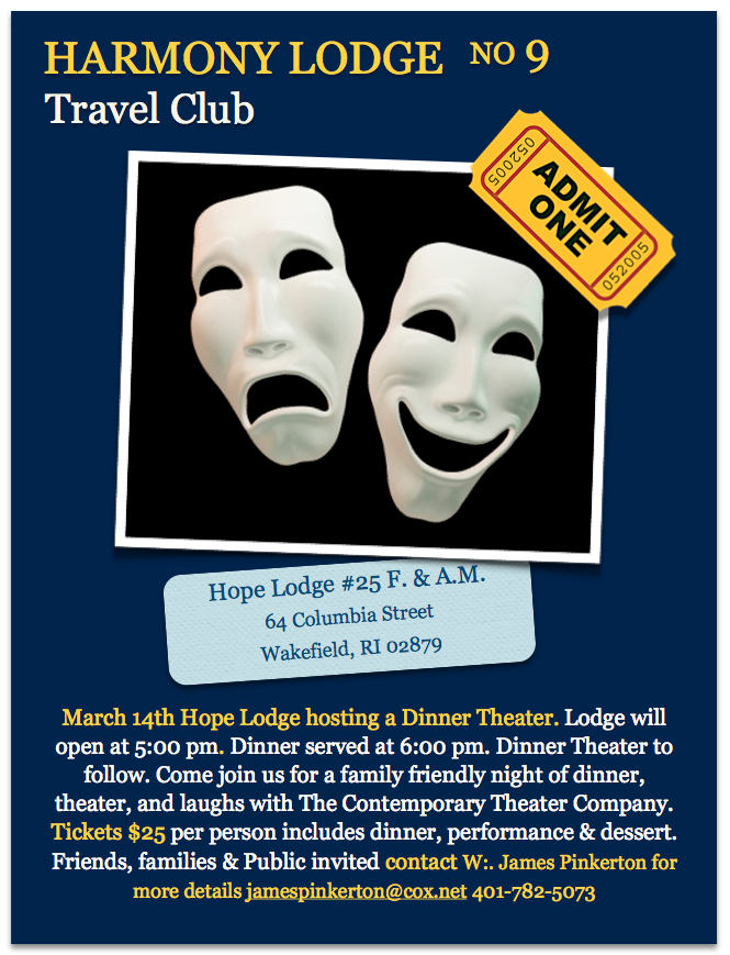 Harmony's Travel Club – Hope Lodge Dinner Theater Evening