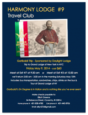 Travel Club Garibaldi 2014 Flyer image