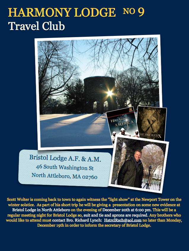 Harmony's Travel Club – Scott Wolter presentation at Bristol Lodge N. Attleboro, MA