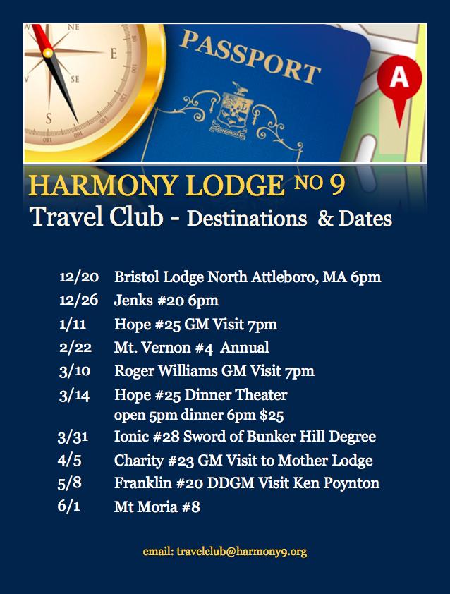 Harmony's Travel Club – Destinations & Dates