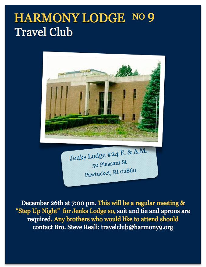 Harmony's Travel Club – Jenks Lodge #24
