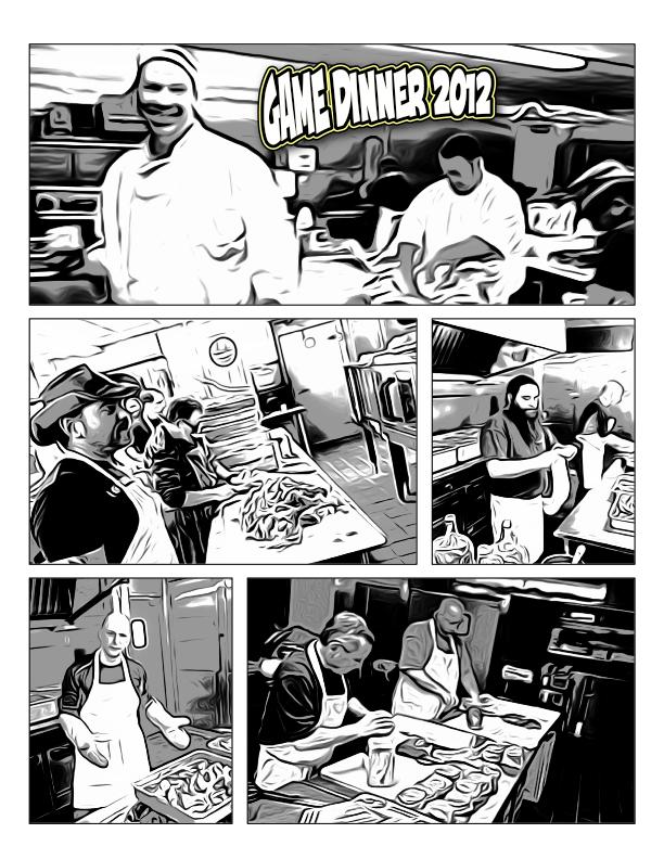 Game Dinner 2012 Comic